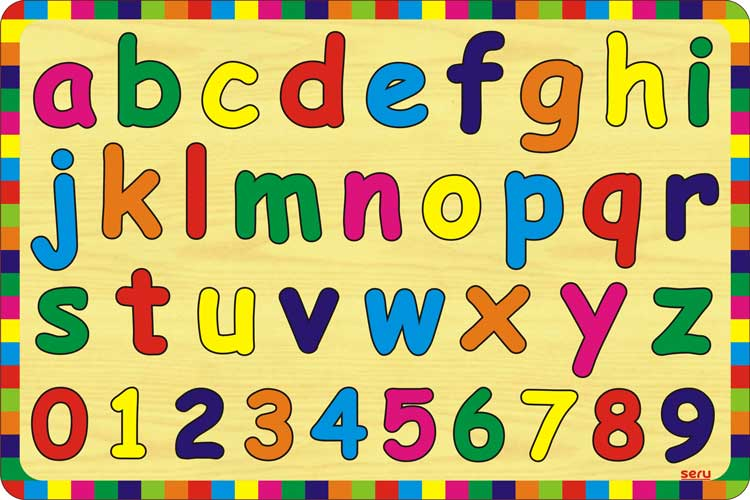 Puzzle ABC Huruf Kecil dan Angka | Kayu Seru